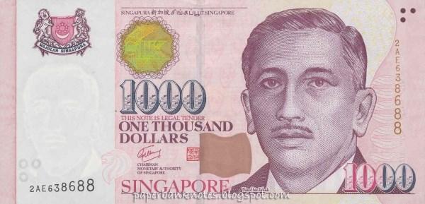 Singapore là quốc gia duy nhất in lời quốc ca lên mặt sau của tờ tiền 1.000 USD Singapore