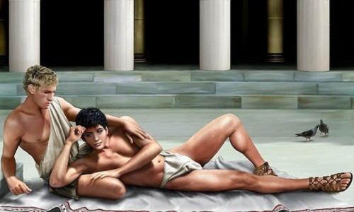 Alexander đại đế và người tình Hephaestion.