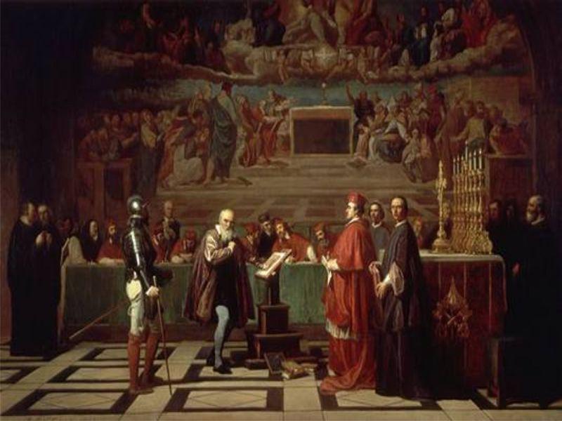 Galileo bị phán quyết bởi tòa án dị giáo.