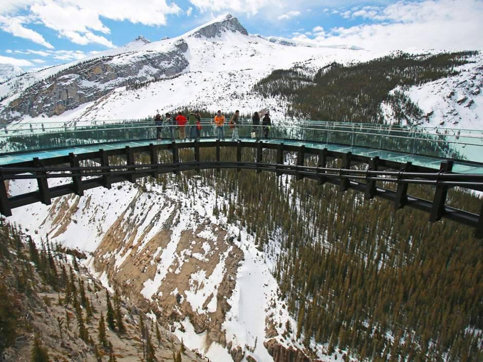 Cầu kính Glacier (sông băng) - Canada