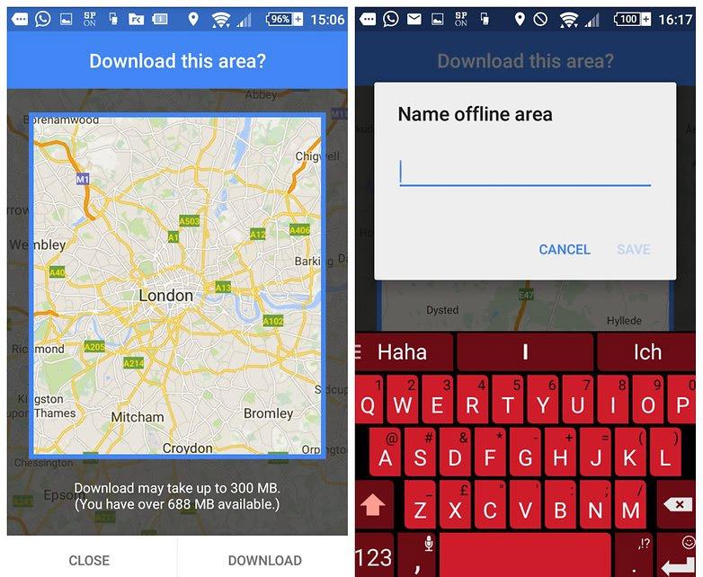 oàn bộ bản đồ về vùng bạn lựa chọn lúc này sẽ được download về smartphone của bạn.