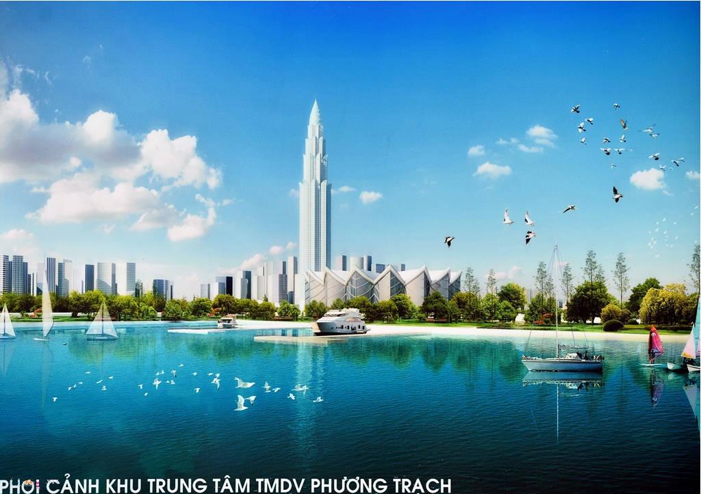 Trọng tâm của khu vực là Tháp tài chính thương mại Phương Trạch cao 108 tầng.