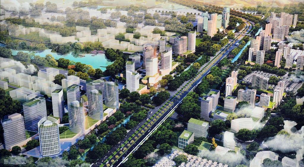 Trong đồ án cũng xác định Nhật Tân - Nội Bài là trục động lực chính trong việc hình thành và phát triển đô thị Bắc sông Hồng,