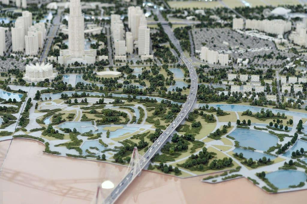 Hình ảnh của thủ đô hiện đại trong tương lai