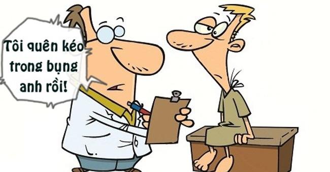 Bác sĩ để quên kéo trong bụng bệnh nhân