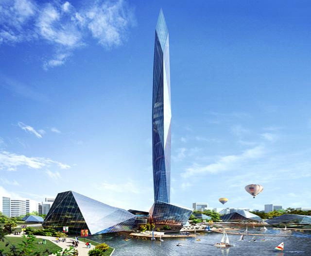 Bản thân tòa tháp đã là một công trình đáng được thăm viếng đến.