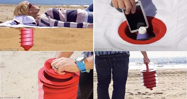 Với sáng kiến này, bạn sẽ không lo mất đồ mỗi khi đi biển.