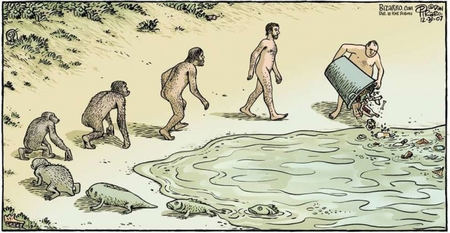 Vòng tròn tiến hoá và sự huỷ hoại môi trường - Con người đang tự đầu độc chính mình!