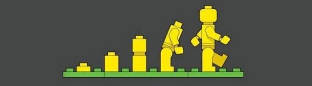 Sự tiến hoá của con người với hình ảnh đồ chơi Lego
