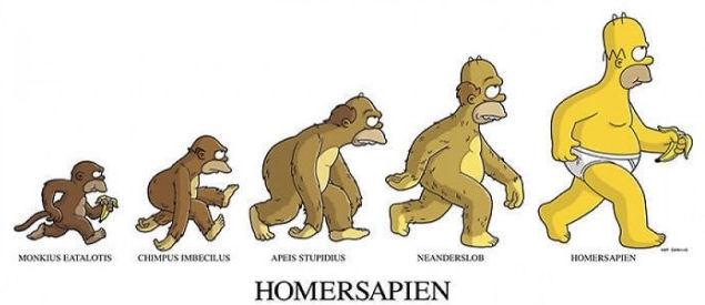 """Lý thuyết tiến hoá """"Homersapien"""" của tác giả Homer Simpson"""
