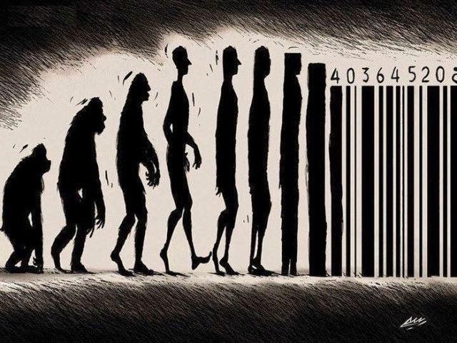 """Con người tiến hoá dần đến những """"mã vạch hàng hoá"""""""