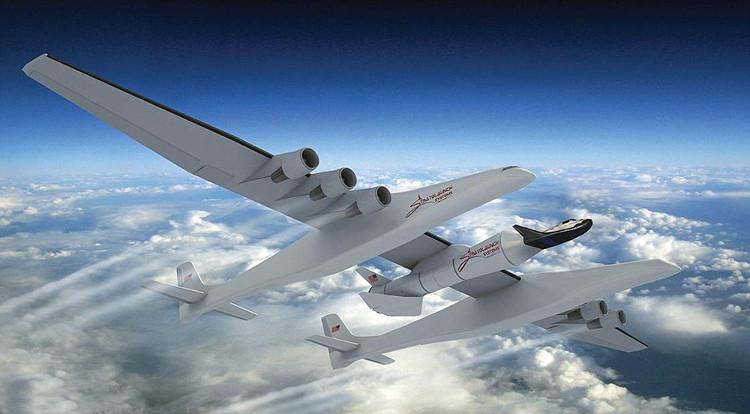 Chiếc máy bay lớn nhất thế giới Stratolaunch có sải cánh dài 117 mét.