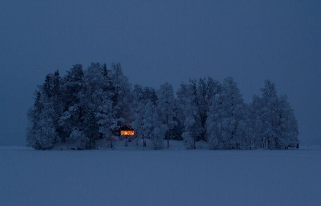 Mùa đông ở Thụy Điển.