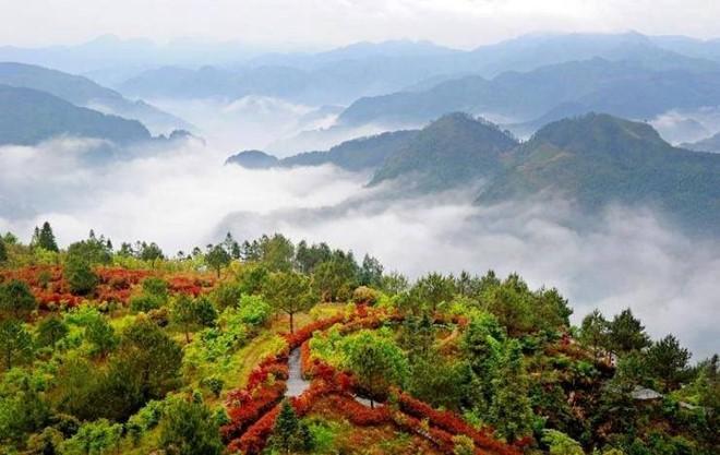 Phong cảnh ngôi làng cổ như được miêu tả từ trong những truyện kiếm hiệp...