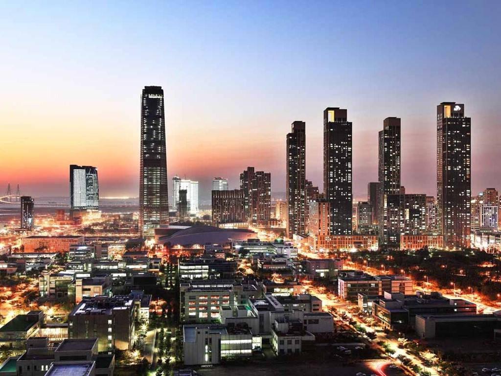 """Songdo, """"thành phố thông minh"""" của Hàn Quốc, có diện tích hơn 6 triệu m2."""