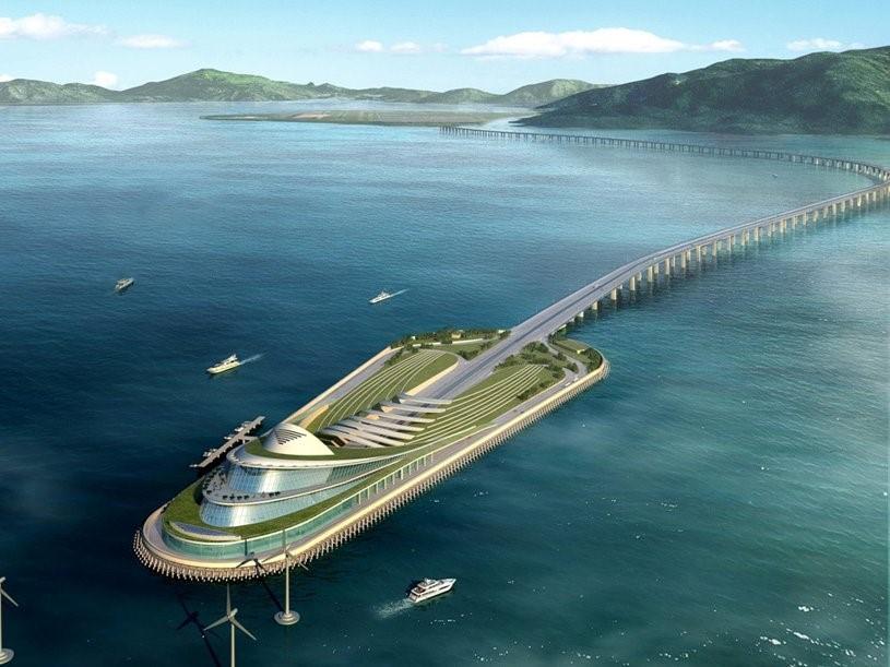 Cầu Hong Kong - Chu Hải - Ma Cao (Trung Quốc) sẽ nối ba thành phố lớn của đồng bằng sông Châu Giang, tạo ra một siêu thành phố 42 triệu dân khi hoàn thành vào năm 2017.