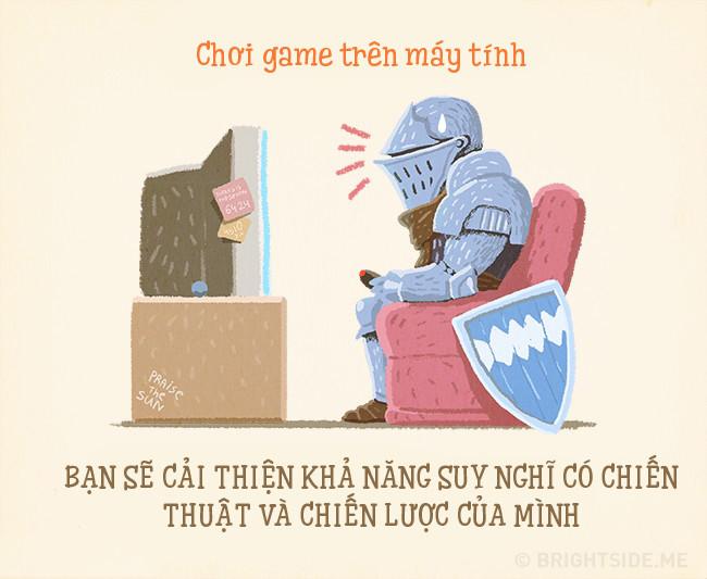 Chơi game giúp cải thiện khả năng suy nghĩ có chiến thuật và chiến lược.