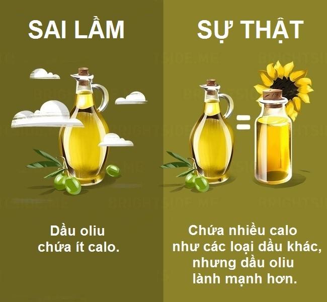 Dầu oliu chứa chất béo và chất dinh dưỡng có lợi, nhưng cũng như nhiều loại dầu khác, dầu oliu giàu calo, dễ gây tăng cân.