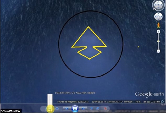 Vị trí xác định trên Google Earth.