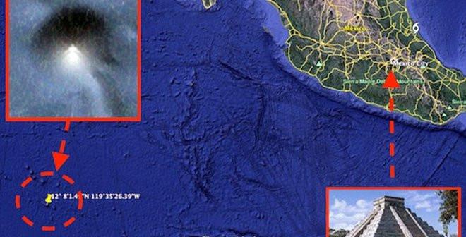 Kim tự tháp mới phát hiện dưới biển nằm gần kim tự tháp Maya và Aztec ở Mexico một cách kỳ lạ.