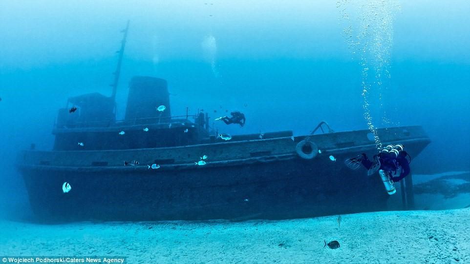 Tàu Rozi với hình dáng tuyệt đẹp và huyền bí nằm ở độ sâu 36 m gần đảo Gozo.