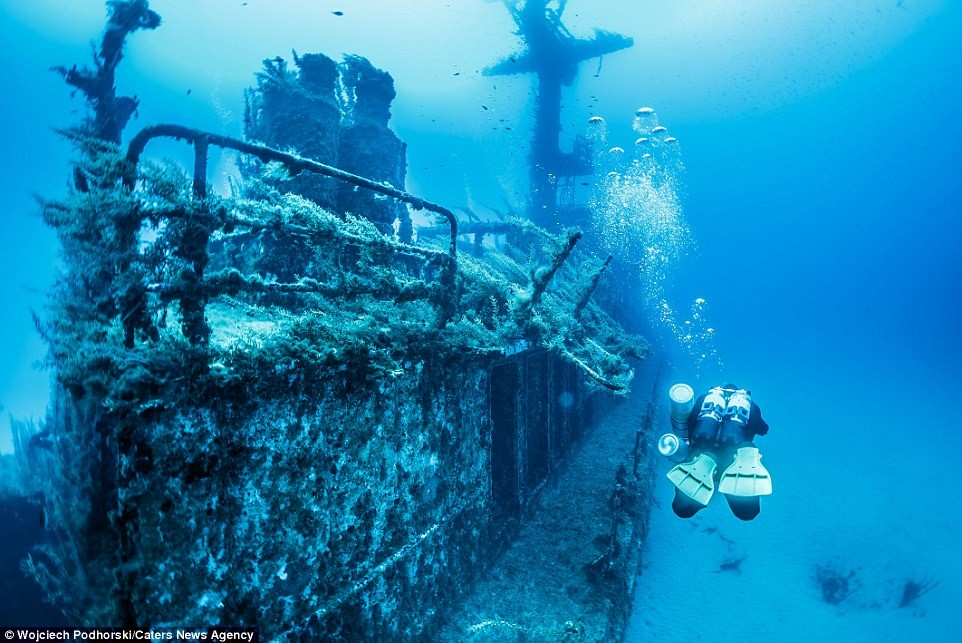 Bức hình ám ảnh này chụp những gì còn lại của tàu dò phá mìn P29.