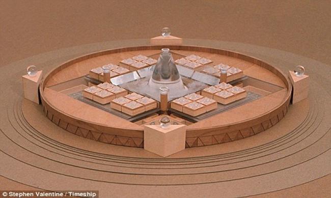 Hình đồ họa thiết kế của tòa nhà Timeship Building