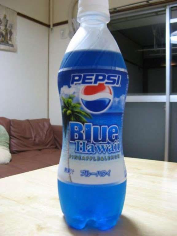 Pepsi Blue Hawaii là sự kết hợp của vị chanh và dứa.