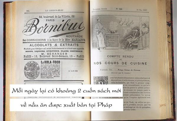 Ẩm thực Pháp luôn được đánh giá rất cao trên thế giới, bởi vậy chẳng có gì đáng ngạc nhiên khi các cuốn sách về ẩm thực Pháp lại nhiều như vậy.