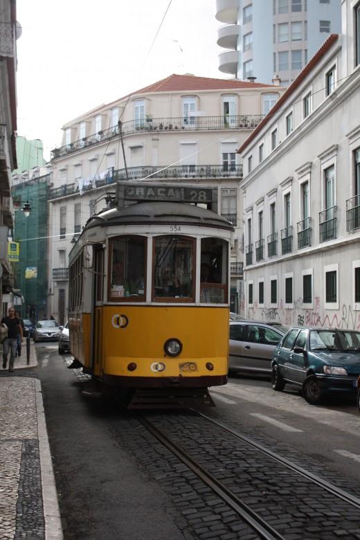 Xe điện ở Lisbon.