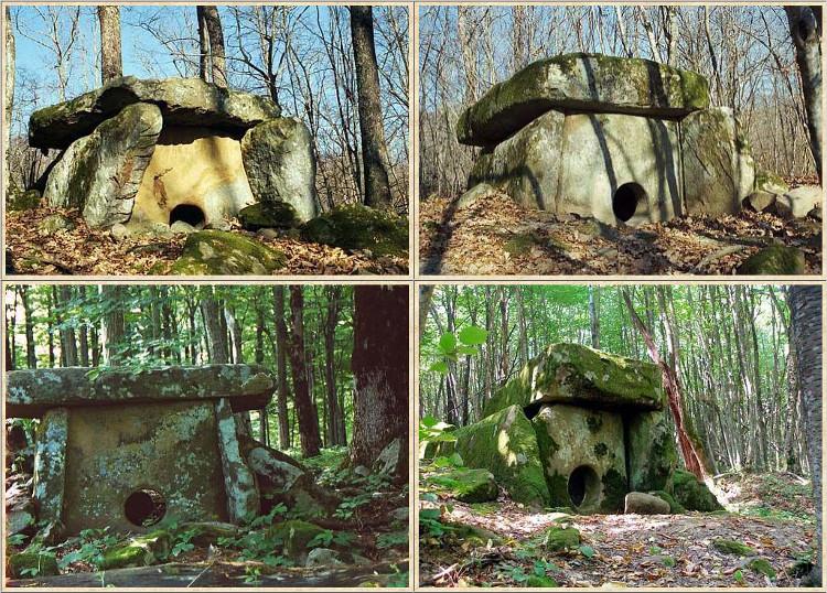 Một số ngôi mộ đá ở vùng núi Caucasus, Nga.
