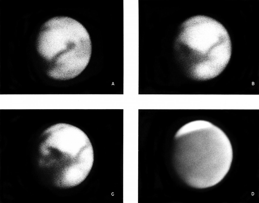 Trước khi có bất cứ một tàu vũ trụ nào được gửi lên sao Hỏa, đây là hình ảnh chất lượng nhất về hành tình này mà các nhà khoa học thu nhận được từ Đài quan sát Mount Wilson ở California