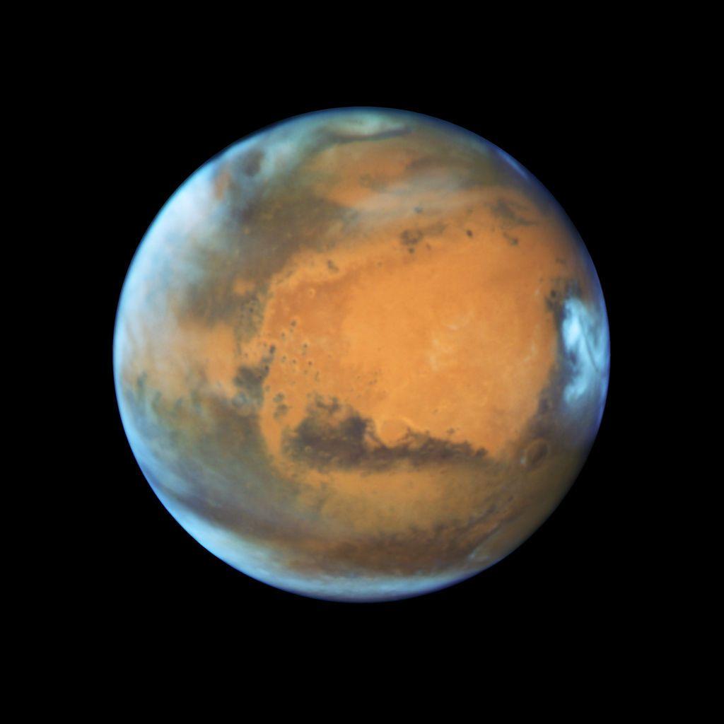 Ảnh chụp sao Hỏa bằng kính viễn vọng Hubble vào ngày 12 tháng 5 năm 2016.