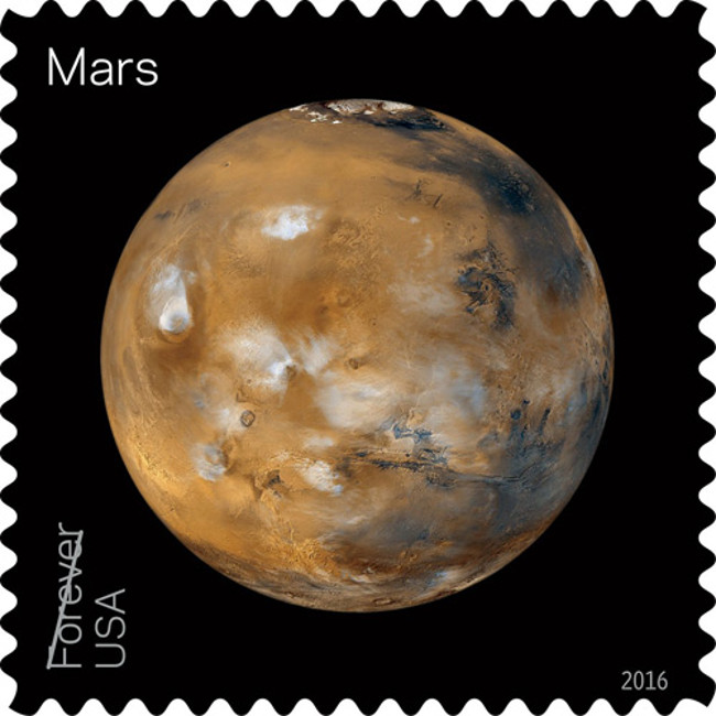 Hiện tại, sao Hỏa còn có con tem bưu chính riêng của nó.
