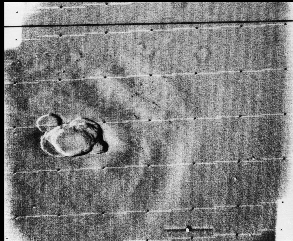 Bằng chứng về những dãy núi lửa khổng lồ Olympus Mons.