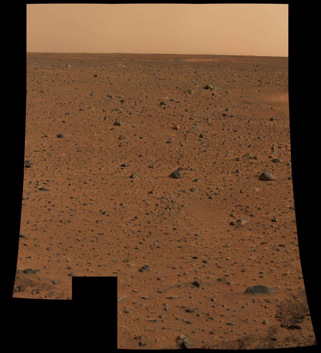 Các robot tự hành Spirit và Opportunity đã đáp xuống bề mặt hành tinh Đỏ thành công vào năm 2003. Đây được xem là hình ảnh có độ phân giải cao nhất từng được chụp trên hành tinh tại thời điểm đó.