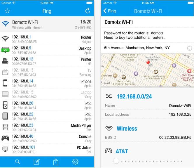 """Cách dùng iPhone rà quét thiết bị """"dùng chùa"""" Wifi"""