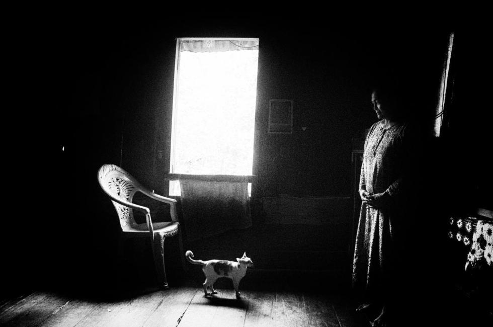 Bà Lonely Asnah cô độc trong ngôi nhà cùng chú mèo.