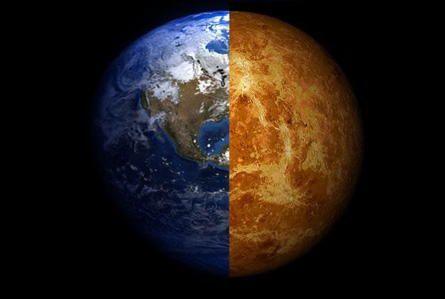 Theo lý thuyết của các nhà khoa học Đại học Rice, thay đổi nhỏ trong tiến hóa có thể thay đổi số phận của cả Trái đất và sao Kim.