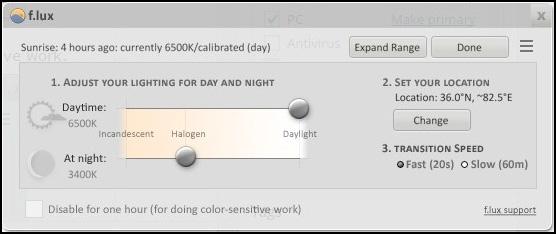Tự động thiết lập màu sắc màn hình tối ưu