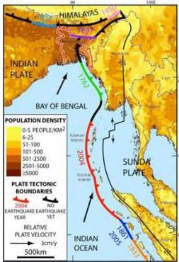Khu vực được dự đoán sẽ xảy ra trận động đất lịch sử.