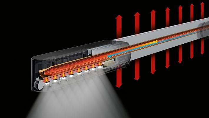 Hầu hết mọi bóng đèn của đối thủ đều nóng lên trong khi sử dụng nhưng bóng đèn LED của Dyson thì không.
