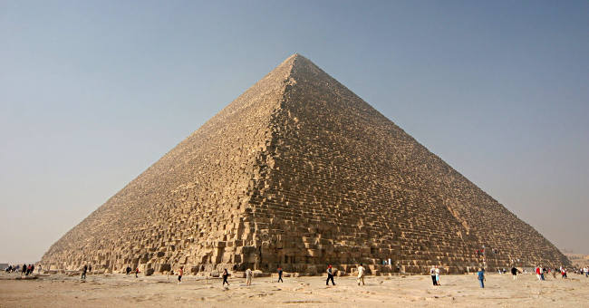Kim tự tháp Giza.