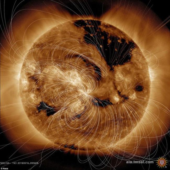 Tuy tạo ra bão địa từ, hiện tượng cực quang tại Nam Cực và Bắc Cực Trái đất nhưng năng lượng từ trường của Mặt trời không gây ảnh hưởng nhiều đến hành tinh xanh