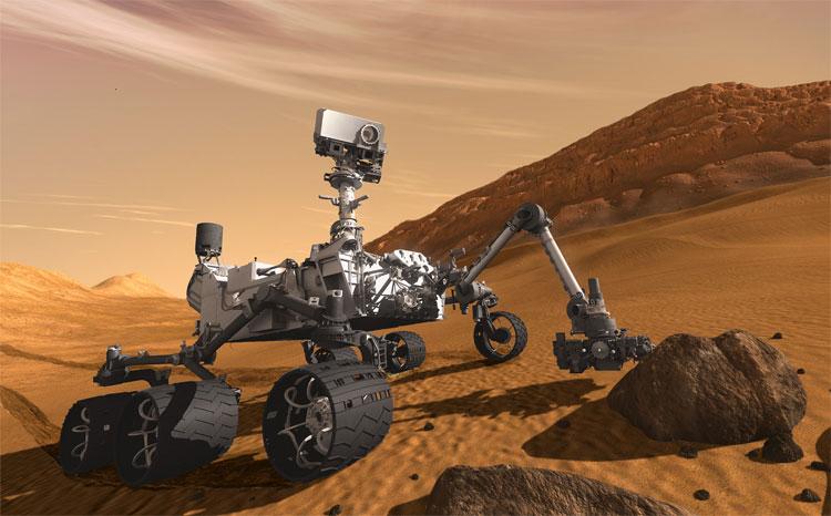 Curiosity - Robot tự hành hiện tại nhất của NASA cho đến thời điểm hiện tại.