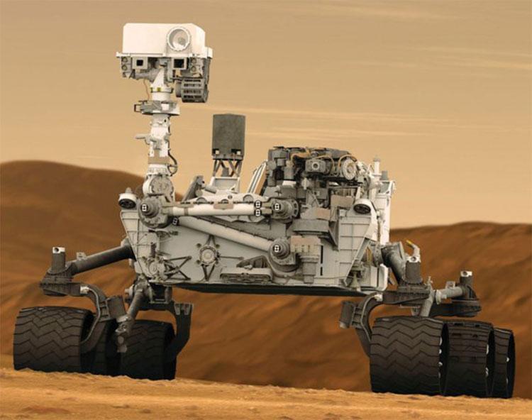 Xe tự hành thám hiểm Sao Hỏa Curiosity.