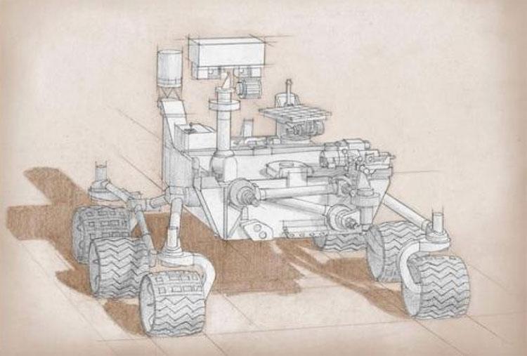 Robot cũng được lắp 2 thiết bị tối tân để thu thập thành phần bề mặt hành tinh.