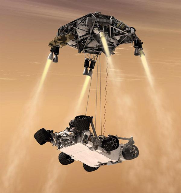 Mars 2020 cùng sử dụng hệ thống hạ cánh giống Curiosity.