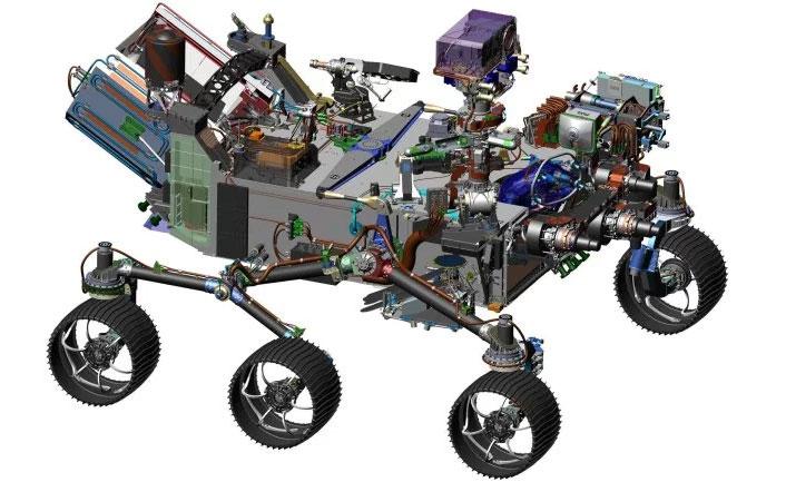 Mẫu thiết kế của Mars 2020.