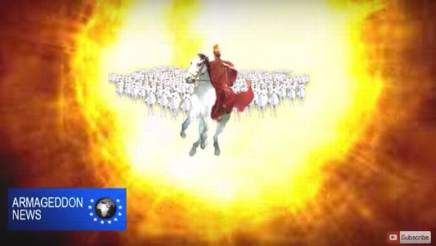 """Hình ảnh chúa Jesus cưỡi ngựa trắng """"giáng trần""""."""